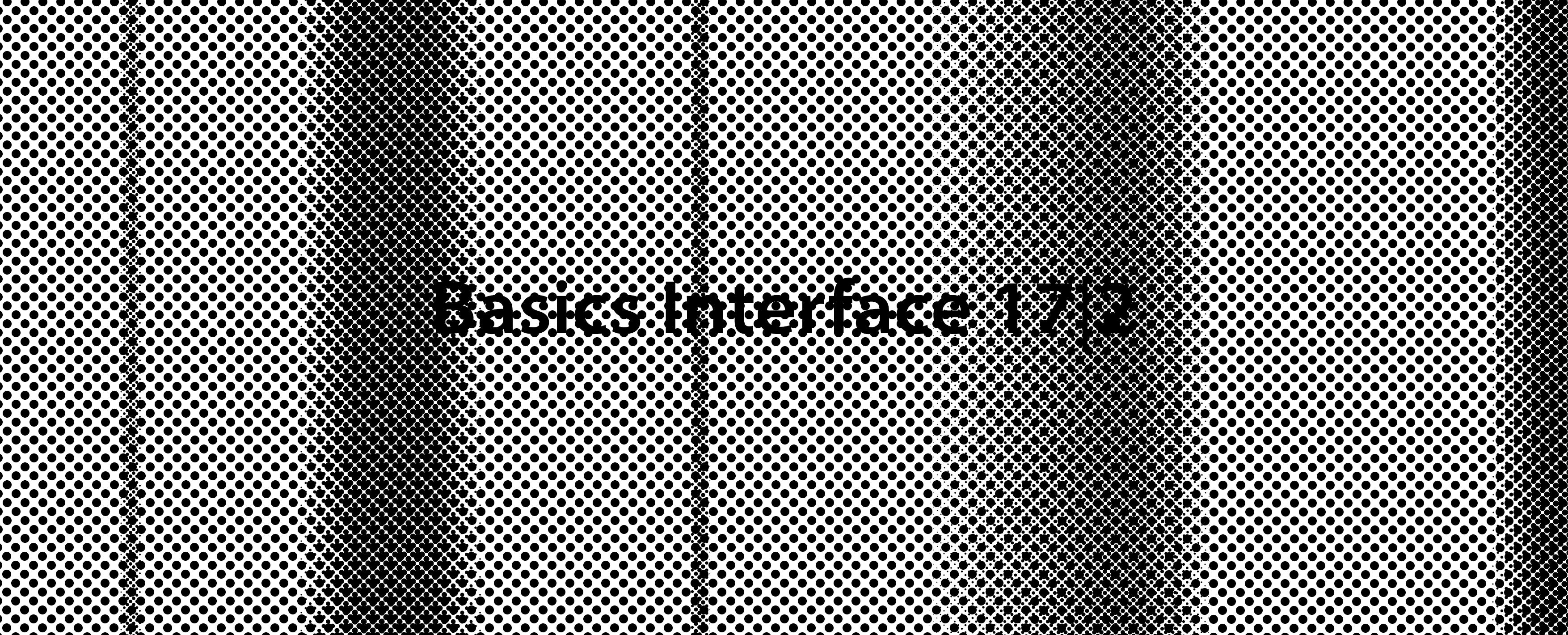 Basics Interface 17|2