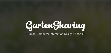 Human-Computer Interaction Design | GartenSharing