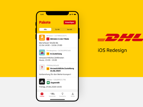DHL - iOS Redesign